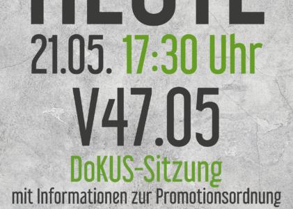 Einladung: 1. DoKUS-Sitzung im SS19